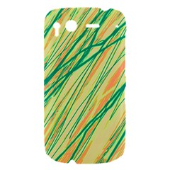 Green and orange pattern HTC Desire S Hardshell Case