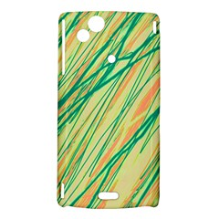 Green and orange pattern Sony Xperia Arc