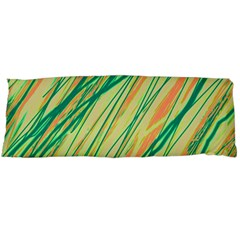Green and orange pattern Body Pillow Case Dakimakura (Two Sides)