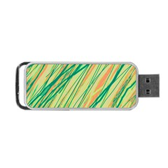 Green and orange pattern Portable USB Flash (One Side)