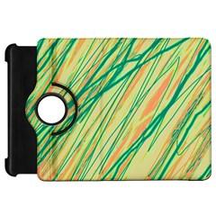 Green and orange pattern Kindle Fire HD Flip 360 Case