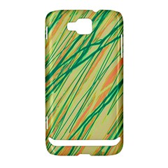 Green and orange pattern Samsung Ativ S i8750 Hardshell Case