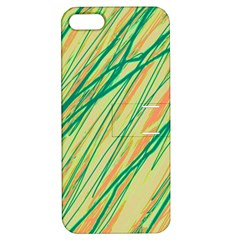 Green and orange pattern Apple iPhone 5 Hardshell Case with Stand
