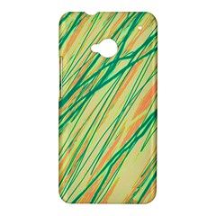 Green and orange pattern HTC One M7 Hardshell Case