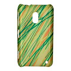 Green and orange pattern Nokia Lumia 620