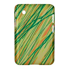 Green and orange pattern Samsung Galaxy Tab 2 (7 ) P3100 Hardshell Case
