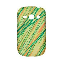 Green and orange pattern Samsung Galaxy S6810 Hardshell Case