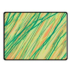 Green and orange pattern Double Sided Fleece Blanket (Small)