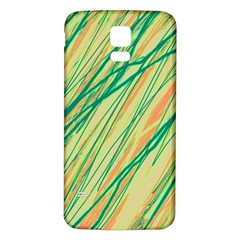 Green and orange pattern Samsung Galaxy S5 Back Case (White)