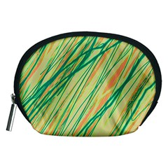 Green and orange pattern Accessory Pouches (Medium)