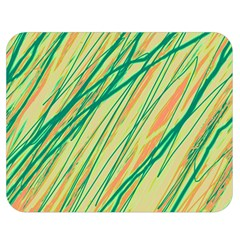 Green and orange pattern Double Sided Flano Blanket (Medium)