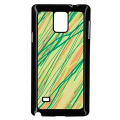 Green and orange pattern Samsung Galaxy Note 4 Case (Black)