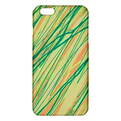 Green and orange pattern iPhone 6 Plus/6S Plus TPU Case