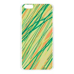 Green and orange pattern Apple Seamless iPhone 6 Plus/6S Plus Case (Transparent)