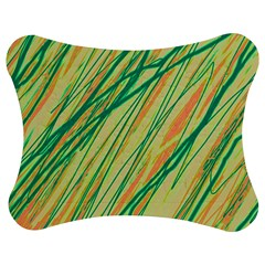 Green and orange pattern Jigsaw Puzzle Photo Stand (Bow)