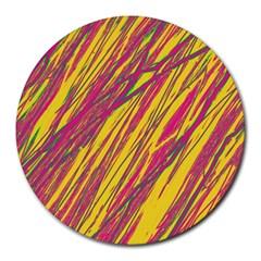 Orange pattern Round Mousepads