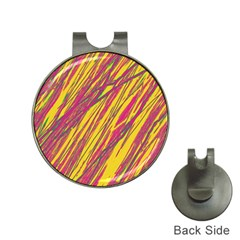 Orange pattern Hat Clips with Golf Markers