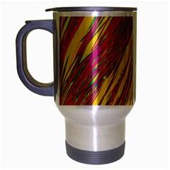 Orange pattern Travel Mug (Silver Gray)