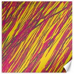Orange pattern Canvas 16  x 16