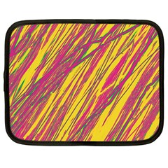 Orange pattern Netbook Case (Large)