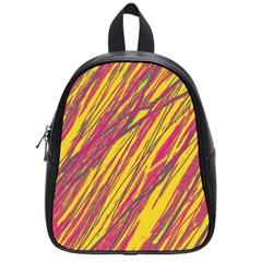 Orange pattern School Bags (Small)