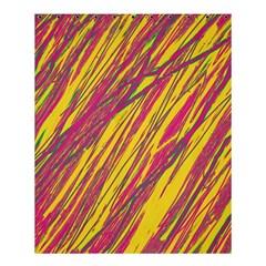 Orange pattern Shower Curtain 60  x 72  (Medium)