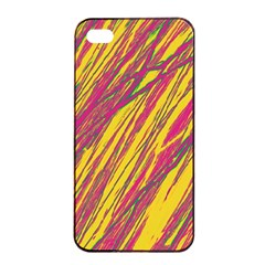 Orange pattern Apple iPhone 4/4s Seamless Case (Black)