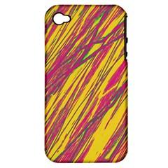 Orange pattern Apple iPhone 4/4S Hardshell Case (PC+Silicone)