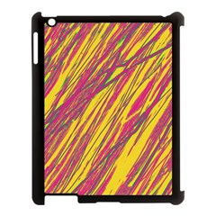 Orange pattern Apple iPad 3/4 Case (Black)