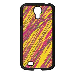 Orange pattern Samsung Galaxy S4 I9500/ I9505 Case (Black)