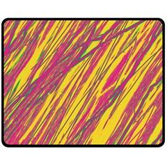Orange pattern Double Sided Fleece Blanket (Medium)