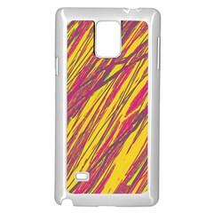 Orange pattern Samsung Galaxy Note 4 Case (White)