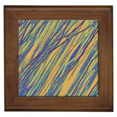 Blue and yellow Van Gogh pattern Framed Tiles