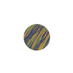 Blue and yellow Van Gogh pattern 1  Mini Buttons