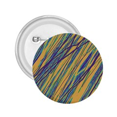 Blue and yellow Van Gogh pattern 2.25  Buttons