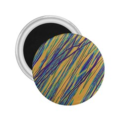 Blue and yellow Van Gogh pattern 2.25  Magnets