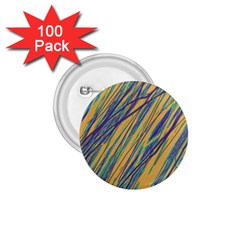 Blue and yellow Van Gogh pattern 1.75  Buttons (100 pack)