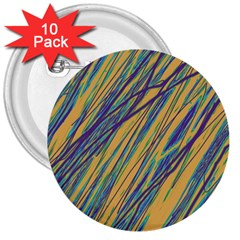 Blue and yellow Van Gogh pattern 3  Buttons (10 pack)