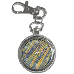 Blue and yellow Van Gogh pattern Key Chain Watches