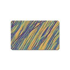 Blue and yellow Van Gogh pattern Magnet (Name Card)