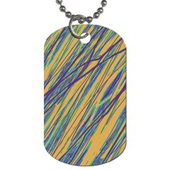 Blue and yellow Van Gogh pattern Dog Tag (One Side)