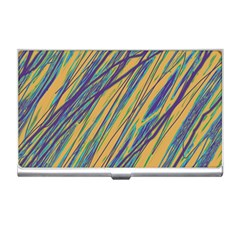 Blue and yellow Van Gogh pattern Business Card Holders