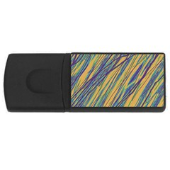 Blue and yellow Van Gogh pattern USB Flash Drive Rectangular (2 GB)