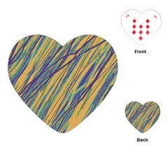 Blue and yellow Van Gogh pattern Playing Cards (Heart)