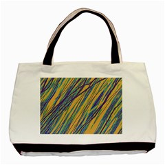Blue and yellow Van Gogh pattern Basic Tote Bag