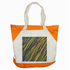 Blue and yellow Van Gogh pattern Accent Tote Bag