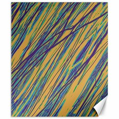 Blue and yellow Van Gogh pattern Canvas 8  x 10