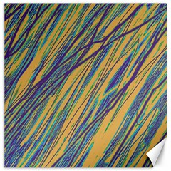 Blue and yellow Van Gogh pattern Canvas 16  x 16
