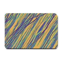 Blue and yellow Van Gogh pattern Small Doormat