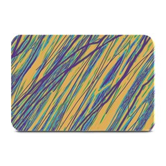 Blue and yellow Van Gogh pattern Plate Mats